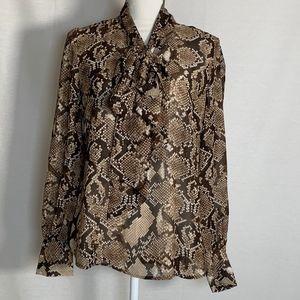Altuzarra Target women's blouse medium print tie